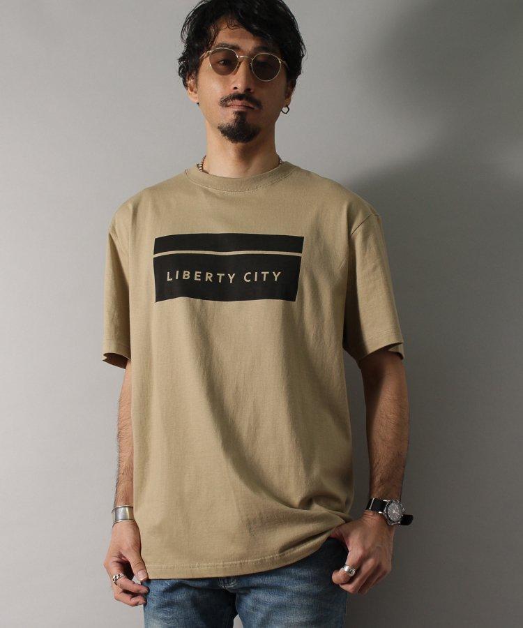 【LIBERTY CITY/リバティーシティ】 [BOX LOGO] Tシャツ <ホワイト・ブラック・レッド>
