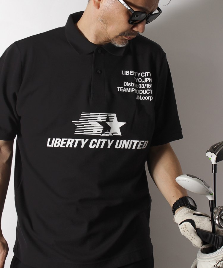 [LIBERTY CITY UNITED] ドライポロシャツ