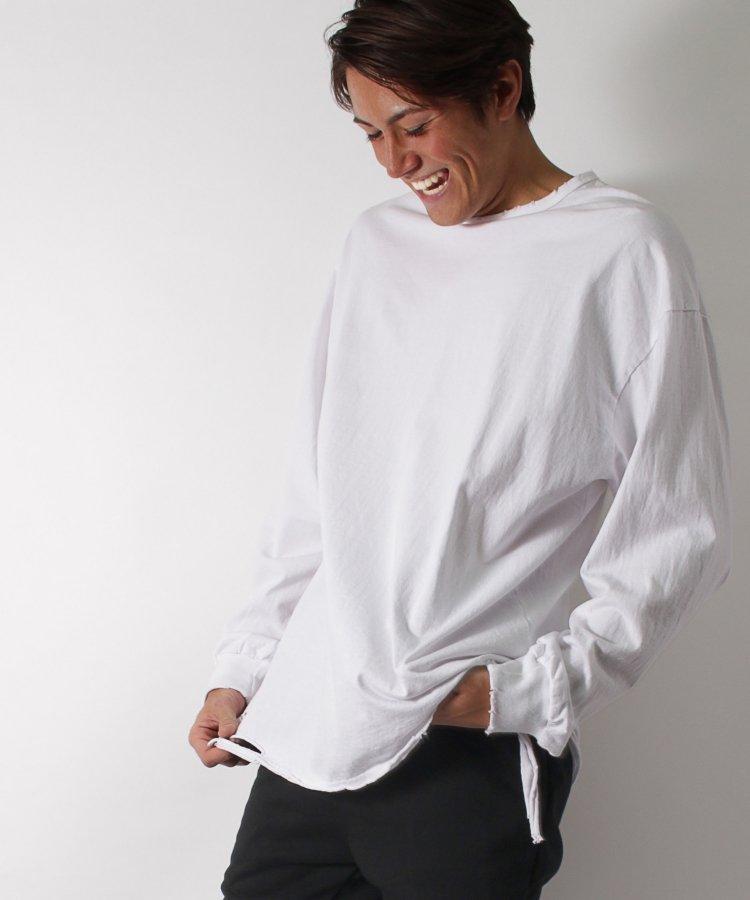 【LIBERTY CITY/リバティーシティ】 ビッグシルエット・ダメージ加工ロングスリーブTシャツ