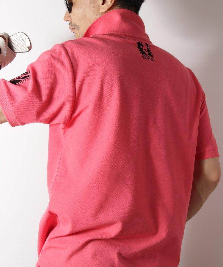 【LIBERTY CITY/リバティーシティ】 [TEAM LC and T] ドライポロシャツ <ブルー・ピンク>