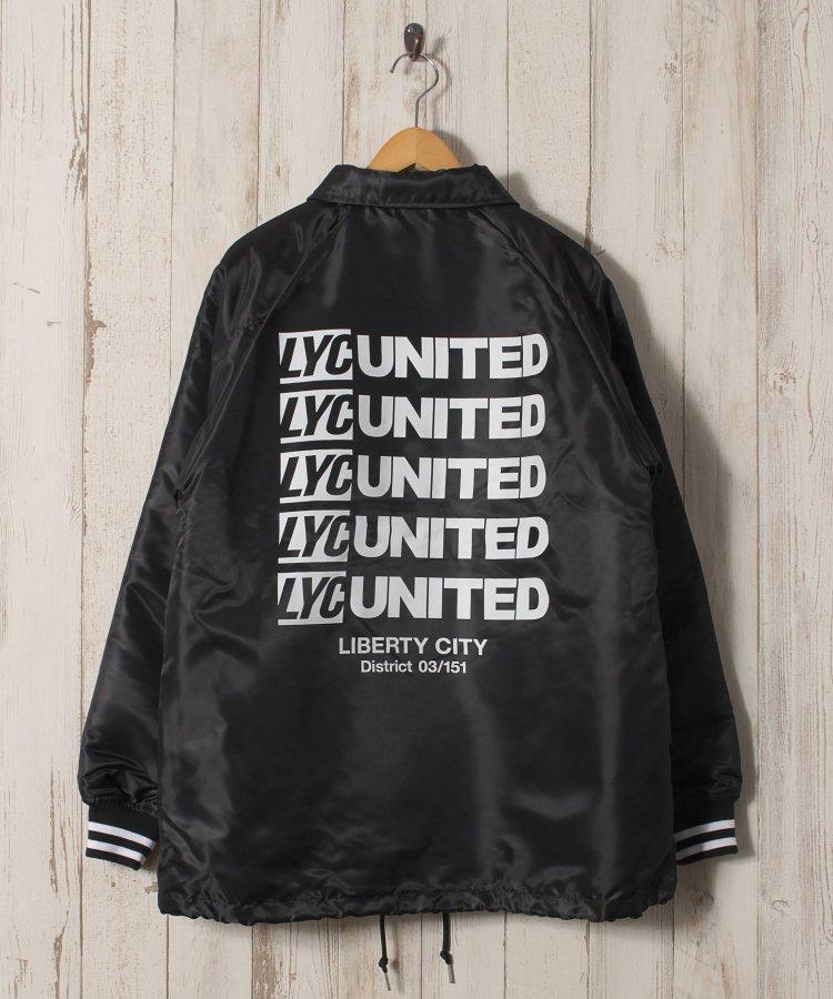 【LIBERTY CITY/リバティーシティ】 [UNITED] 裏ファー・ロゴ・コーチジャケット