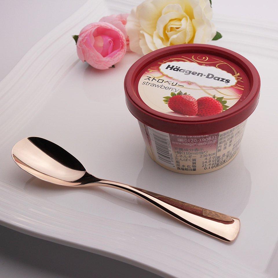 アイスクリームスプーン1本 ピンクゴールド カパーザカトラリー
