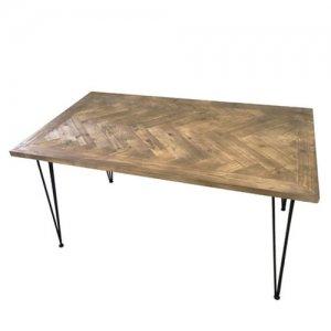 KOZAIダイニングテーブル ヘリンボーン柄W1400