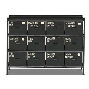 スチールチェスト<ienowa/横型12杯引出チェスト MSG BK色>[送料無料]<img class='new_mark_img2' src='https://img.shop-pro.jp/img/new/icons61.gif' style='border:none;display:inline;margin:0px;padding:0px;width:auto;' />