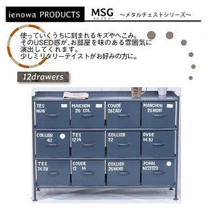 スチールチェスト<ienowa/横型12杯引出チェスト MSG GY色>[送料無料]<img class='new_mark_img2' src='https://img.shop-pro.jp/img/new/icons61.gif' style='border:none;display:inline;margin:0px;padding:0px;width:auto;' />