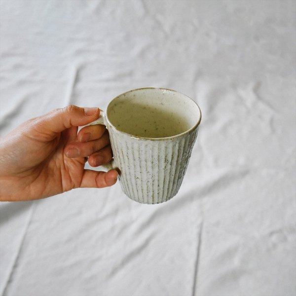 マグカップ(白粉引)ー丹水窯(丹波焼)ー