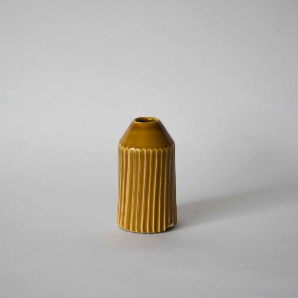 雅峰窯(丹波焼) 細長い鎬の花瓶