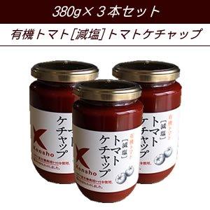 本場イタリア産有機栽培トマト使用! [減塩]トマトケチャップ3本セット