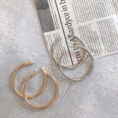 aries Pipe Hoop Pierced Earrings