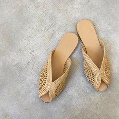 TODAYFUL Raffia Slide Sandals