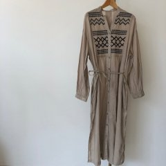 SELECT cotton embroidery one-piece