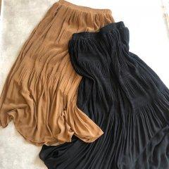 SELECT pleats gather skirt