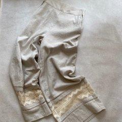 SELECT lace linen pants