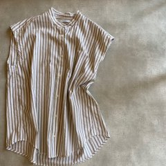 SELECT stripe box blouse