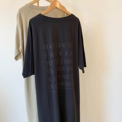 SELECT back print tee one-piece