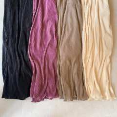 SELECT satin pleats pants