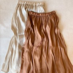 SELECT shiny satin skirt