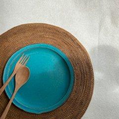 益子焼 Turquoise Plate