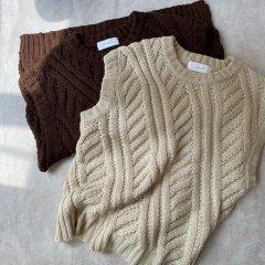 SELECT bias cable knit vest