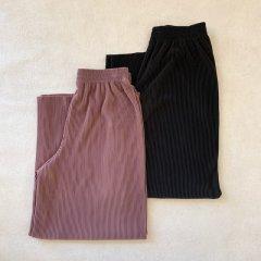 SELECT stretch pleats pants