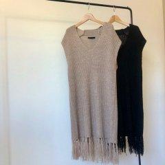 SELECT fringe knit vest