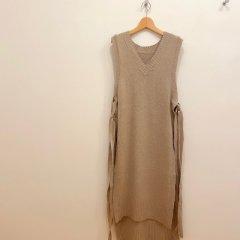 SELECT Vneck long knit vest