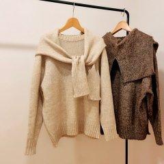 SELECT shoulder ensemble moku knit