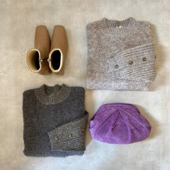 SELECT button sleeve knit