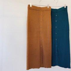 SELECT buttondown color knit skirt