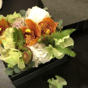 静岡の花屋 ももはな 季節のフラワーボックス flower box¥4000