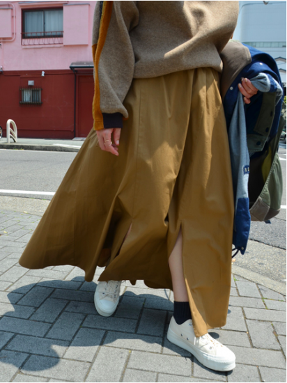 White Mountaineering FLARED SKIRT