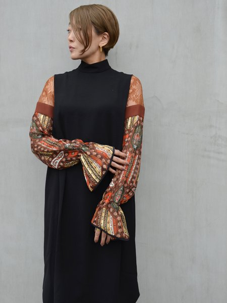 MameKurogouchi Stained Glass Printed Sleeve Dress