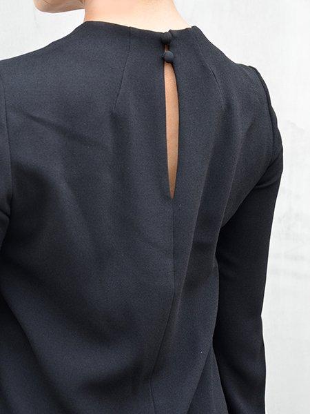 MameKurogouchi Embroidered Cuff Top