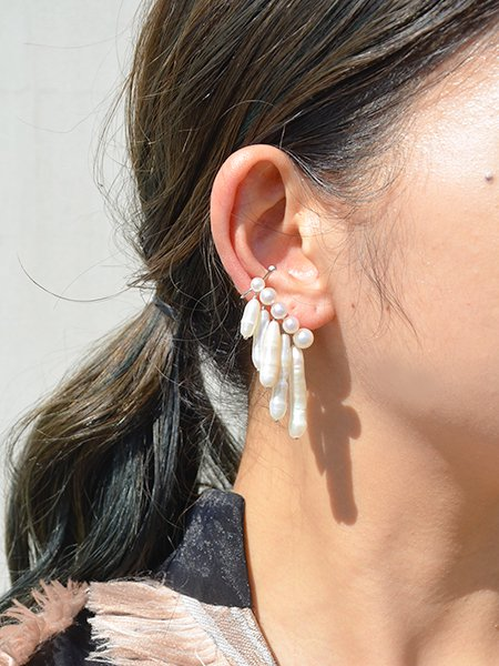 Lautashi ear cuff with pearl -big