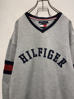 """1990's """"TOMMY HILFIGER"""" L/S Cutsew Rugby Shirt"""