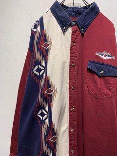 """EXPRESS RIDER"" L/S Native Pattern Design Shirt"