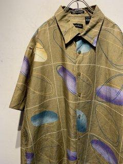 """""""Scarfacio Italia"""" S/S Design Linen Shirt"""