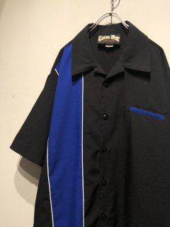 1980-90's OLD S/S Open Collar Switching Shirt Made in USA