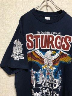 "1990's ""STURGIS Motorcycle RALLY"" Print Tee[Made in USA]  Harley Davidson"