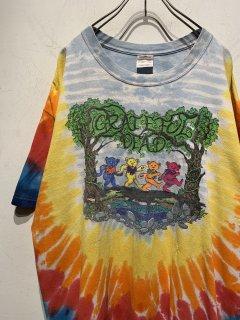 """""""Grateful Dead"""" Tye-Dye Print Tee Dead Bear"""