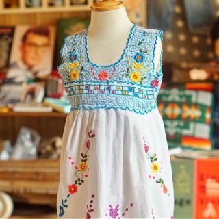 ヴィンテージキッズメキシカン刺繍ワンピース