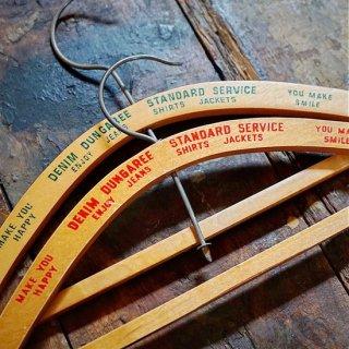 ヴィンテージキッズ用木製ハンガー2個セット
