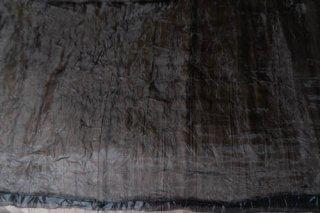 【生地】端切れ*ブラック シフォン布地 幅45〜90cm×丈280cm 輸入生地