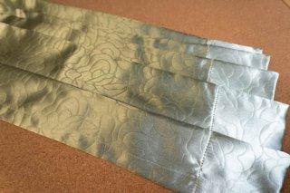 【生地】ライトグリーン 薔薇連続柄 厚手のカーテン 幅57cm×丈225cm 輸入生地