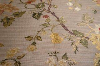 【生地】シノワズリー 優雅な花木模様 ゴブラン 布地  大きめ 300cm×210cm 高級輸入生地