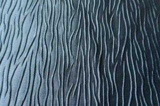 【生地】エンボス風  ブルーグレーの厚手 布地  大きめ 146cm×480cm 高級輸入生地