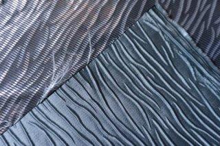 【生地】エンボス風  ブルーグレーの厚手 布地  146cm×276cm 高級輸入生地