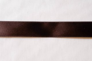 【リボン】メーター売り*ダークブラウン HEIKO 片面 サテン リボン 幅1.5cm