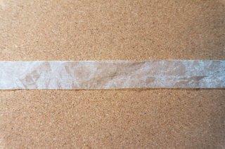【リボン】メーター売り*白 オーガンジー リボン 幅2.5cm