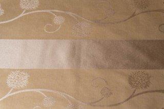 【生地】2枚セット*クリーム色にシルバーの織りの蔓花模様の入った生地 タイ製 42×30cm ランチョンマット、ティーマットに